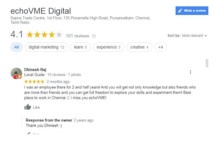 Reviews - Benefits of Google My Business For Small Businesses