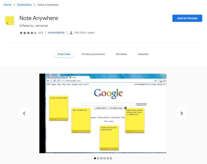 Note Anywhere - Must Use Chrome Extensions For SEO
