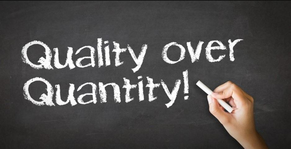 Focus on quality instead of quantity - Best Content Writing Tips For Beginners