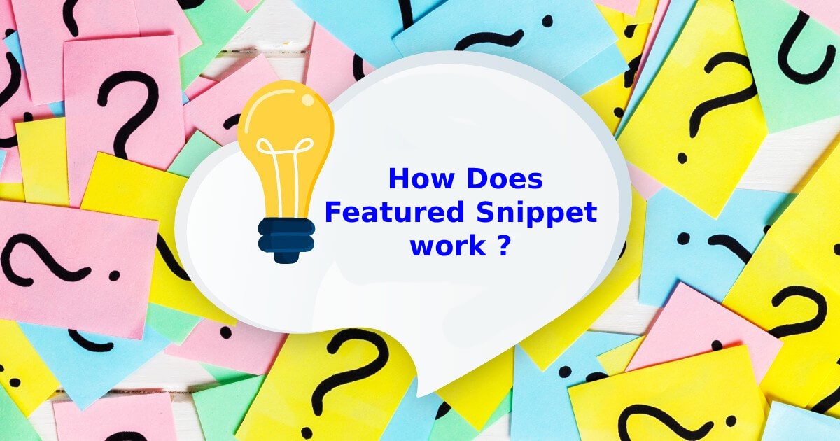 How does a featured snippet work