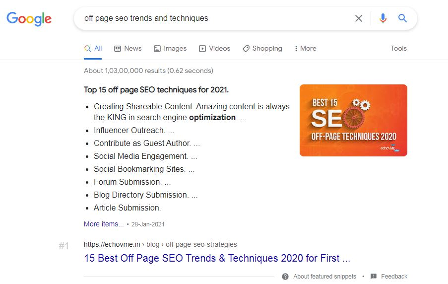 Listicle Snippet - What is Featured Snippet