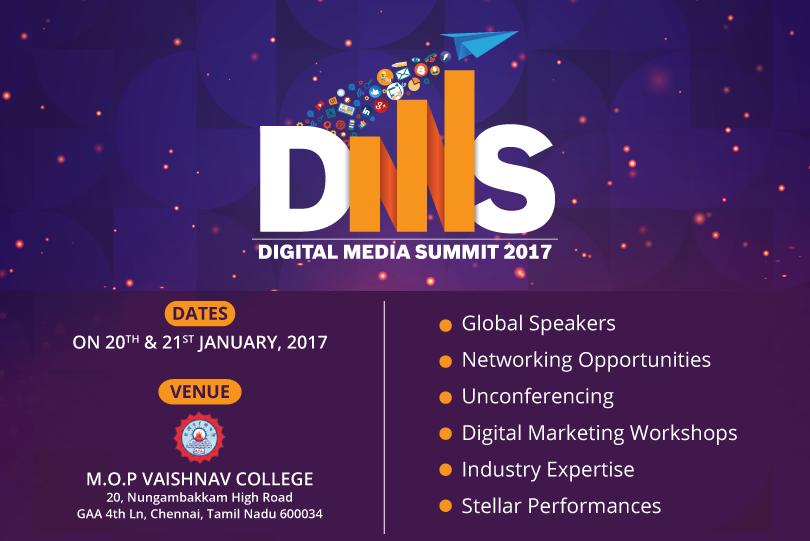 10 Reasons Why You Shouldn't Miss Digital Media Summit 2017, Chennai