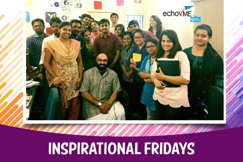 #InspiringFridaysAtechoVME with Pravin Shekar