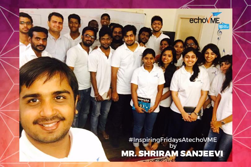 Inspiring Friday Session with Mr. Shriram Sanjeevi