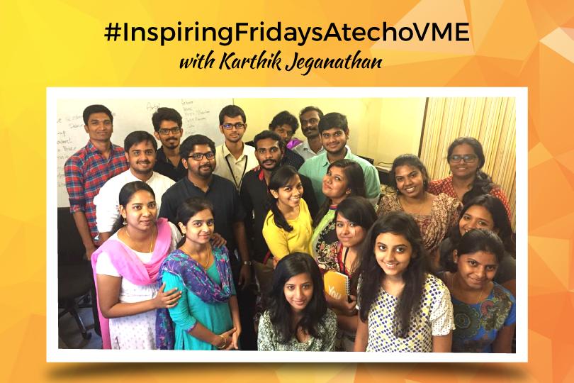#InspiringFridaysAtechoVME – Branding & Positioning by Karthik Jeganathan