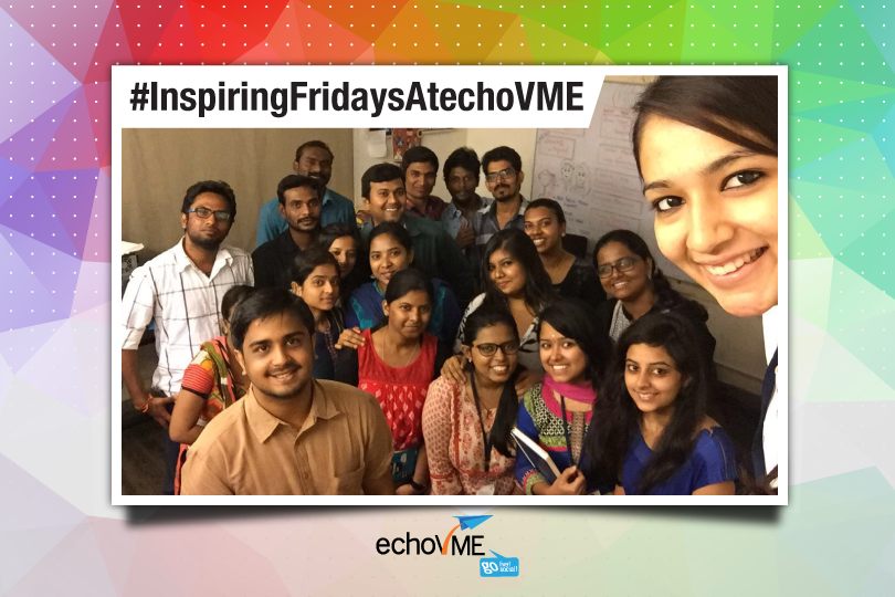 #InspiringFridaysAtechoVME with Anand Arun (Rubecon Creative)